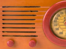 Retro radio close-up Royalty Free Stock Photos