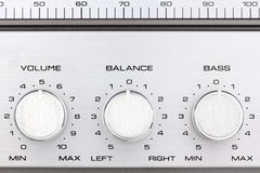Retro radio controll buttons Royalty Free Stock Images