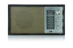 Retro Radio (de weg van de Klem) Stock Fotografie