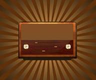 Retro radio del Brown royalty illustrazione gratis