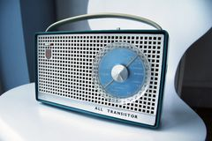 Retro radio del transistore Immagine Stock