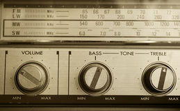 Retro radio detail Royalty Free Stock Photos