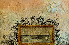 Retro radio di modo Fotografia Stock