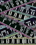 Retro radio dials abstract design Royalty Free Stock Photos
