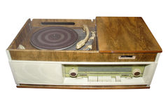 Retro radio and disk player Stock Photography