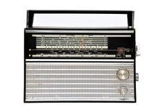 retro radio för 60-tal som isoleras över vit Royaltyfri Bild