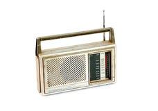 Retro radio för tappning på vit bakgrund Arkivfoton