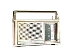 Retro radio för tappning på vit bakgrund Arkivbilder