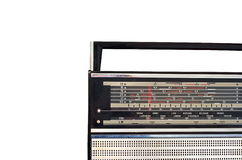 Retro radio. Frequency scale, isolated on white background Stock Photography