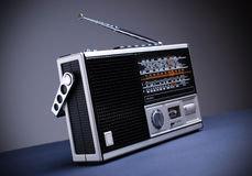 Retro radio with the gray background Stock Image