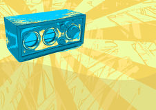Retro Radio Grunge Royalty Free Stock Images