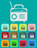 Retro Radio icon Illustration Stock Image