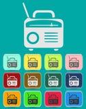 Retro Radio icon Illustration vector illustration