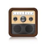 Retro Radio Icon On White Background Royalty Free Stock Photo