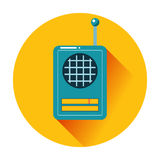 Retro radio icon Stock Image
