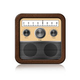 Retro Radio Icon on white background Royalty Free Stock Photo