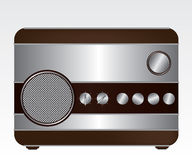 Retro radio illustration Royalty Free Stock Image