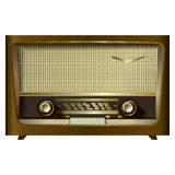 Retro radio isolated on a white Royalty Free Stock Photos