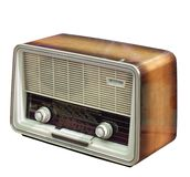 Retro Radio isolated on white Stock Photo