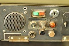 Retro radio old vintage style in the car Stock Photos