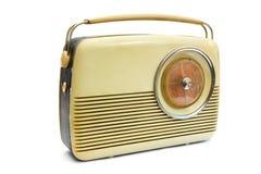 Retro radio over white Royalty Free Stock Photo