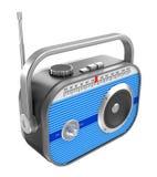 Retro radio over white Royalty Free Stock Photography