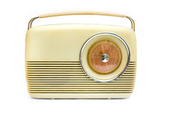 Retro radio over wit stock fotografie
