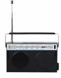 Retro radio på en vit bakgrund isolerat Royaltyfria Bilder