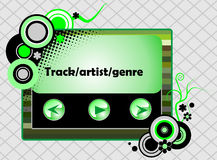 Retro radio player Royalty Free Stock Image