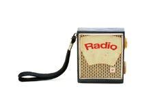 Retro Radio. Retro portable radio isolated on white background Stock Photos