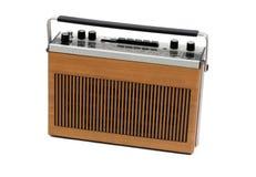 Retro radio portatile del transistore di 60s e di 70s Fotografia Stock Libera da Diritti