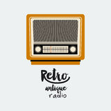 Retro radio  poster isolated icon design Stock Images