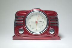 Retro radio receiver with clock Royalty Free Stock Photos