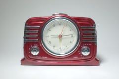 Retro radio receiver with clock Royalty Free Stock Photos