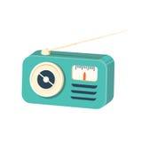 Retro radio receiver icon. Cartoon illustration of retro radio receiver vector icon for web Stock Photos