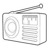 Retro radio receiver icon, isometric 3d style Royalty Free Stock Photos