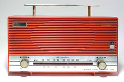 Retro radio receiver of the last century Royalty Free Stock Photos