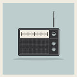 Retro radio receiver vector vector illustration