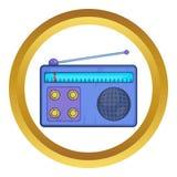 Retro radio receiver vector icon Royalty Free Stock Photo