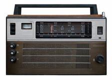 Retro radio receiver on a white background. Retro radio receiveron a white background Royalty Free Stock Photo