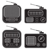 Retro radio receivers Royalty Free Stock Photos