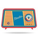 Retro radio, retro toestellen Stock Foto