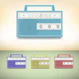 Retro radio. Stock Photo