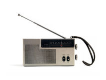 A retro radio set (Music 01). Small portable radio stock photo