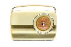 Retro radio sopra bianco Fotografia Stock