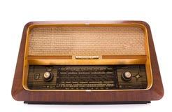 Retro radio su bianco Fotografia Stock Libera da Diritti