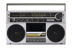 Retro radio van de jaren '80 Stock Foto's