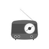Retro radio. Vector design. Old radio receiver illustration Stock Images