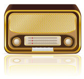 Retro radio vector illustration Royalty Free Stock Images