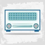 Retro Radio. Vintage Clip Art. Vector illustration of vintage radio. Vector illustration of a retro radio. Retro card with old radio stock illustration